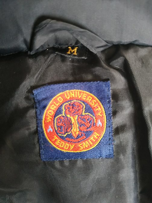 Teddy Smith down jacket - label