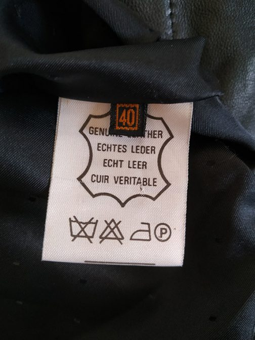 Leather jacket - label