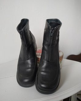Bottines noires en cuir